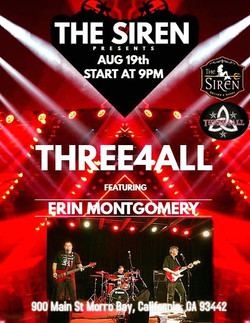 So sorry about flooding FB w Three4All stuff .... but ..please come out to The Siren Sat night