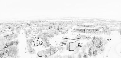 Akureyri í snjó