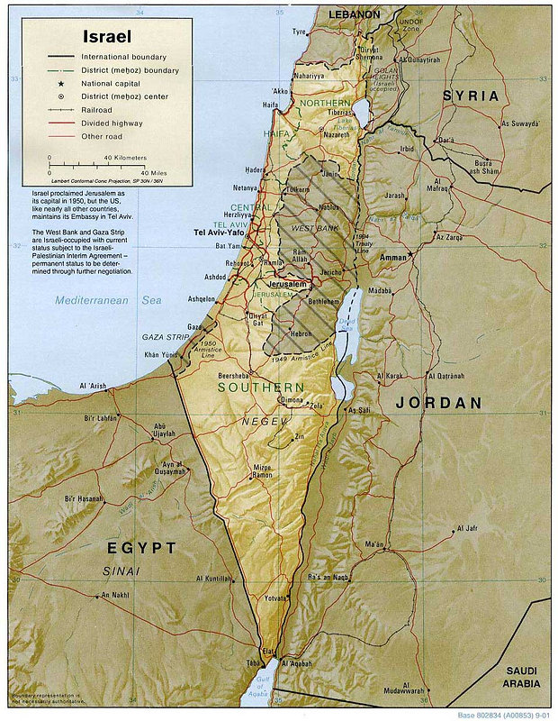 Map of Israel Tourism of the world