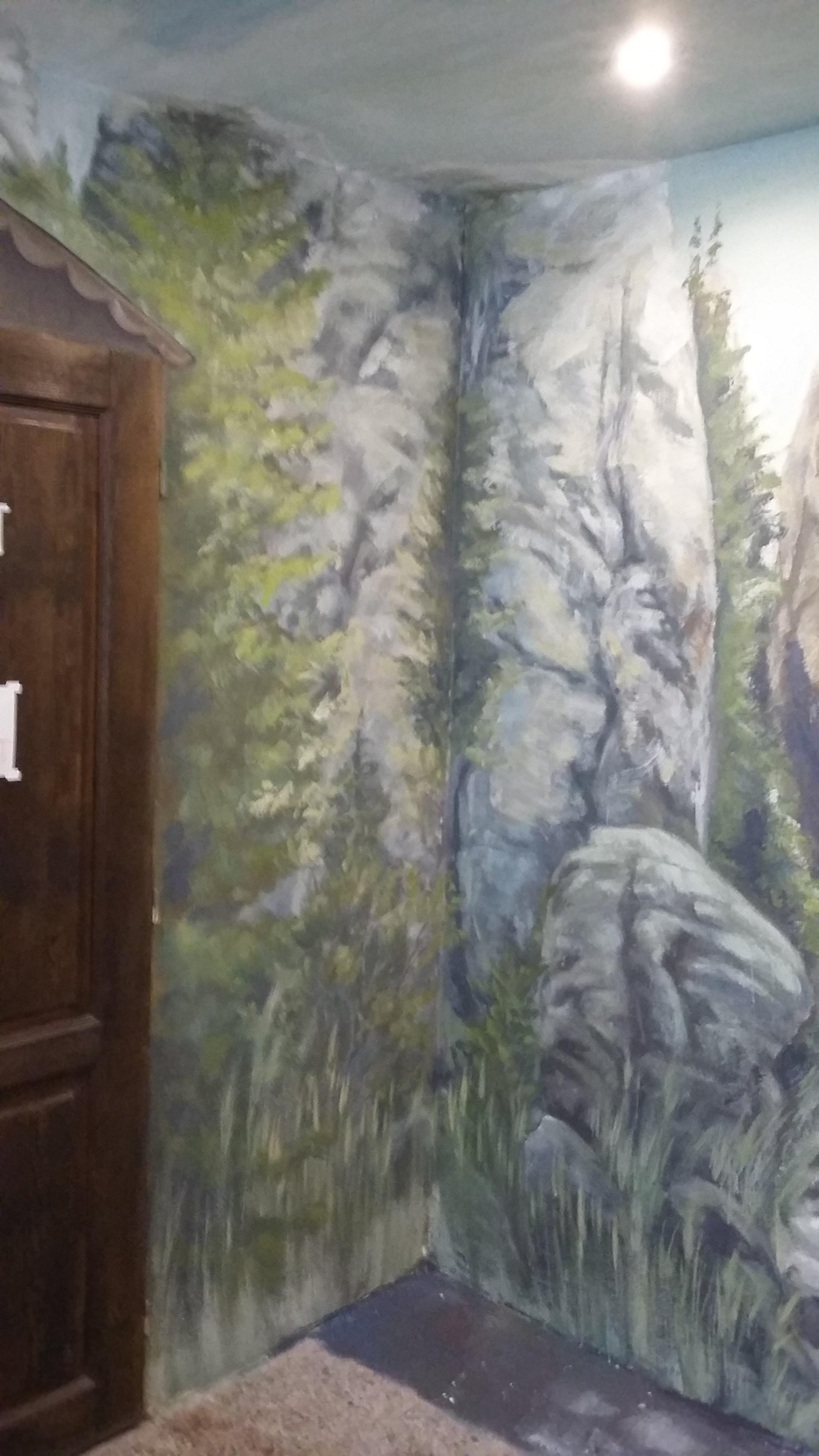 malba v infocentru na Prachově- skál