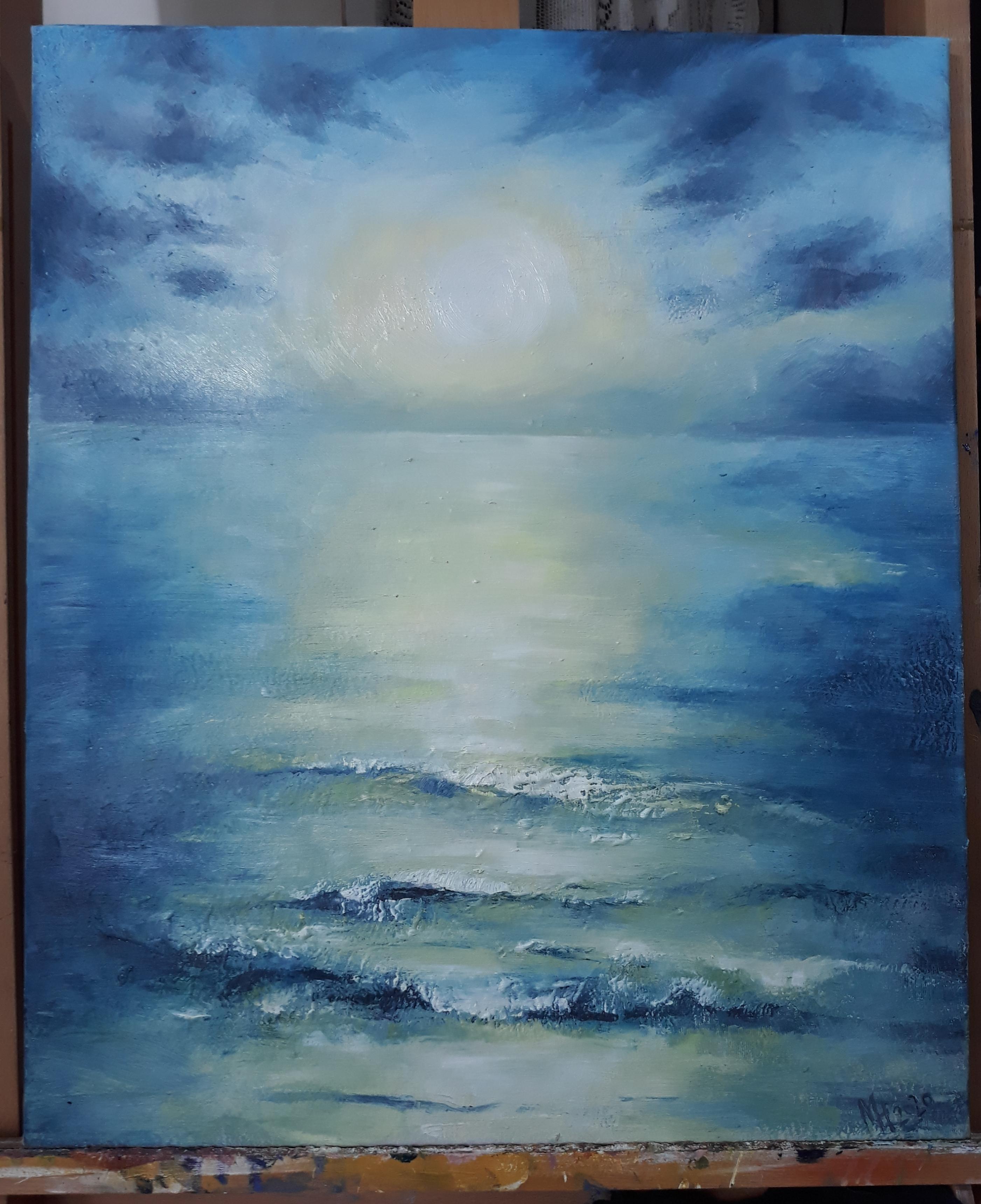 úplněk a moře