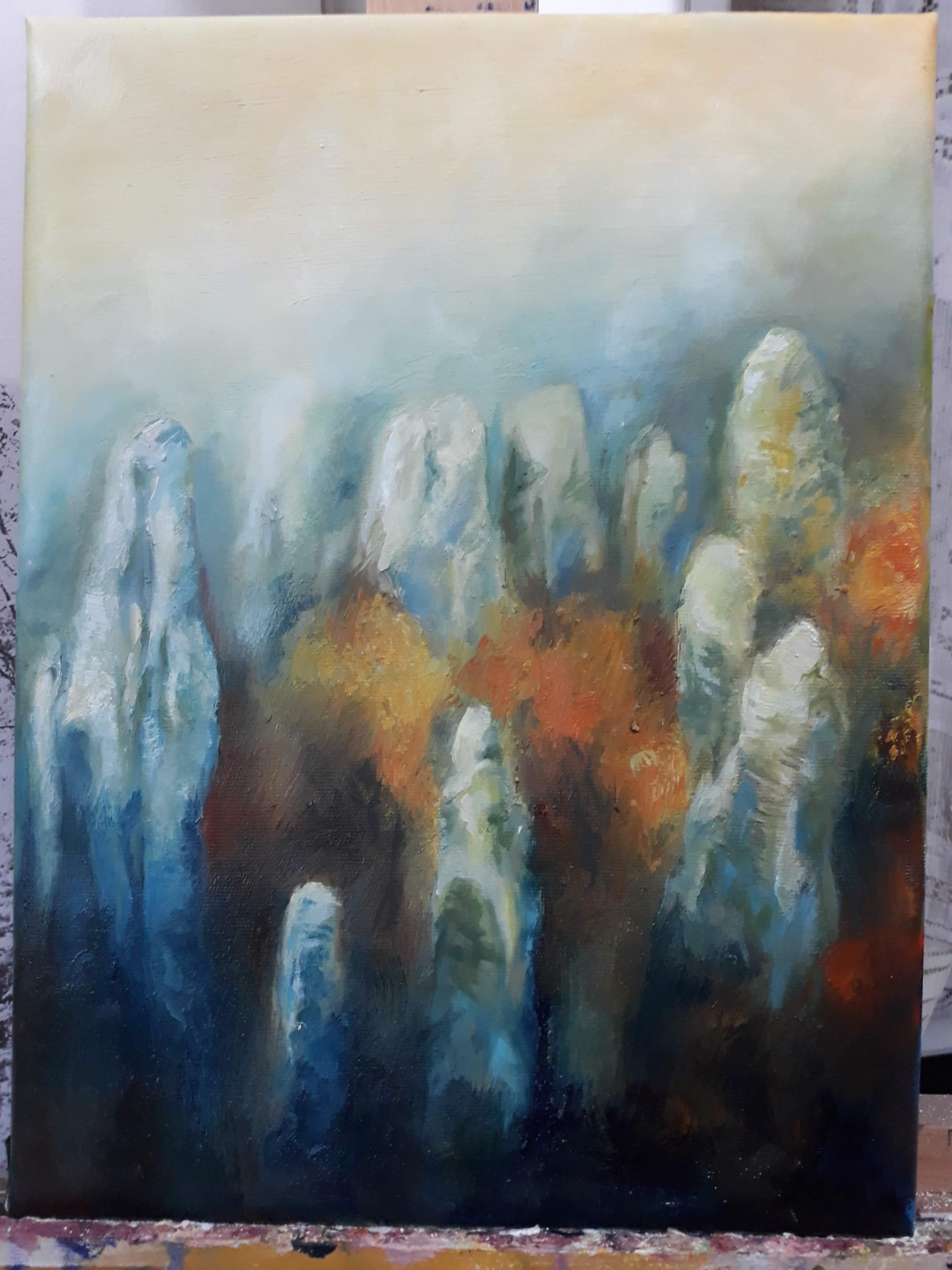 Prachovské skály v mlze
