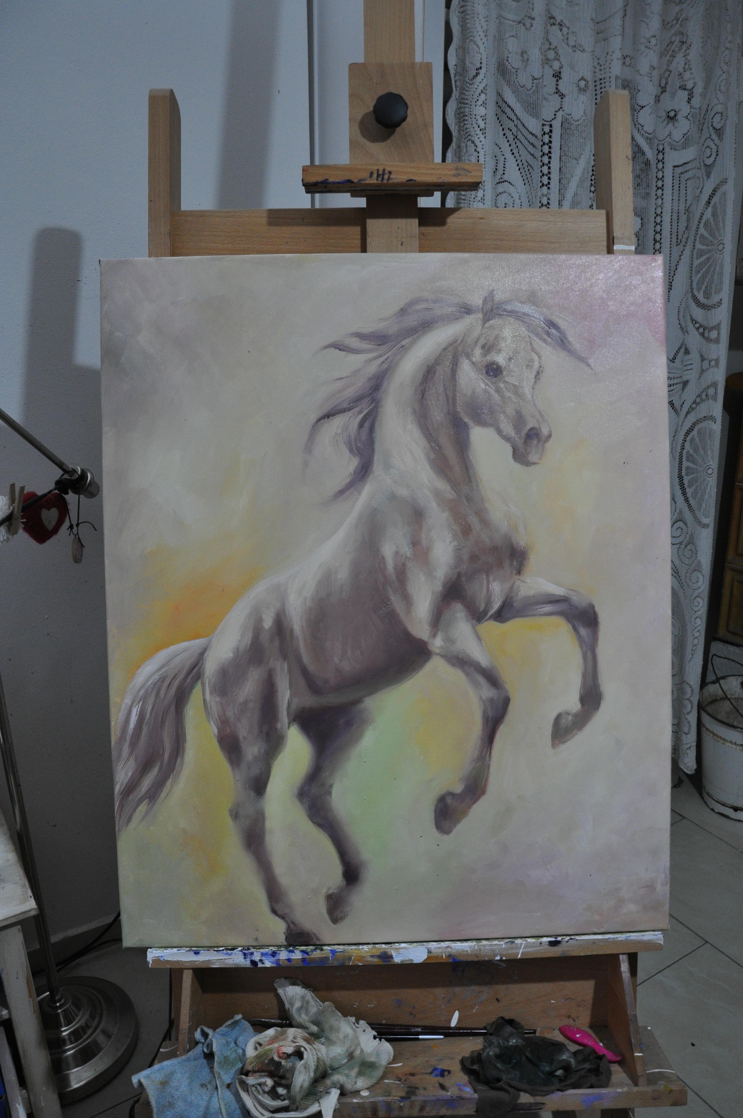 růžový kůň