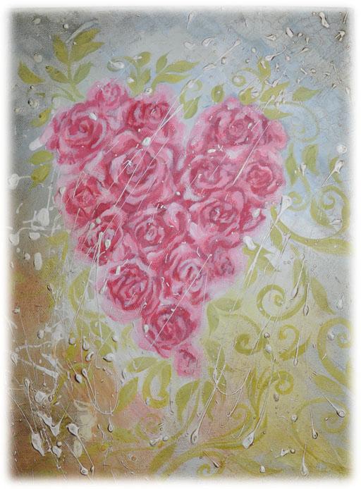 růžové srdíčko