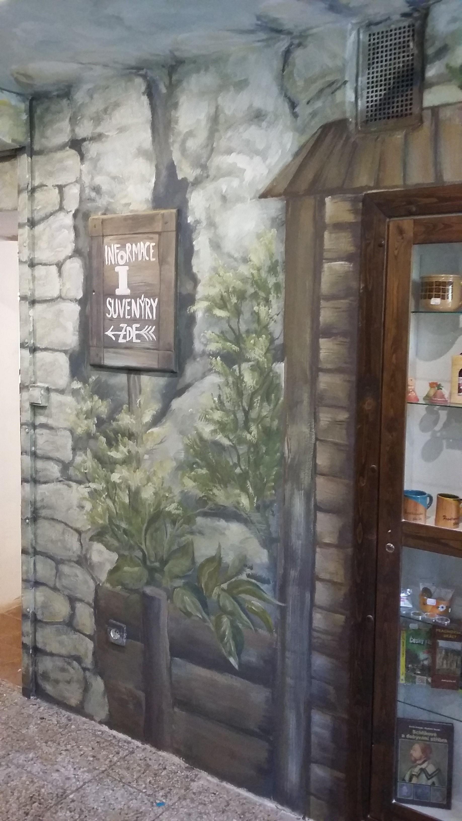 malba v infocentru na Prachově