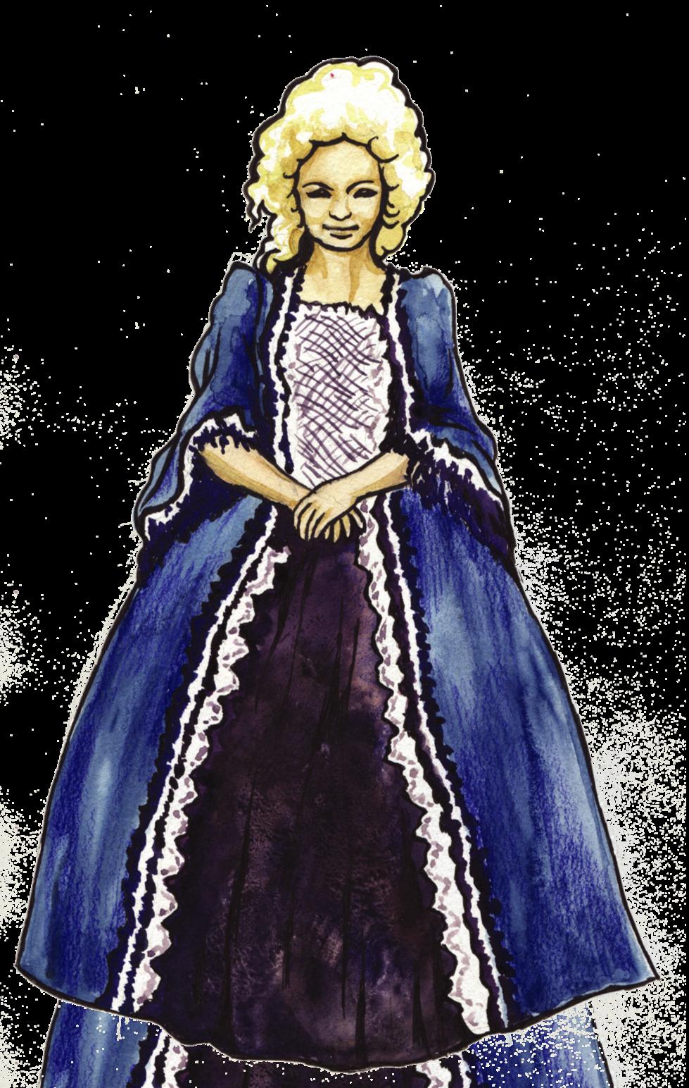 dama modra