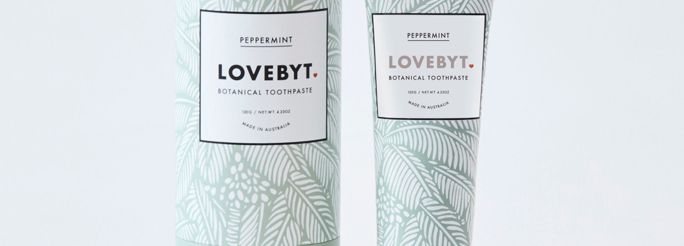 LOVEBYT natural tooth paste peppermint