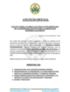 CONVOCATORIA ASAMBLEA GENERAL EXTRAORDIN
