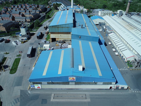 Drone Roof Inspection At Novelis  Factory In Warrington
