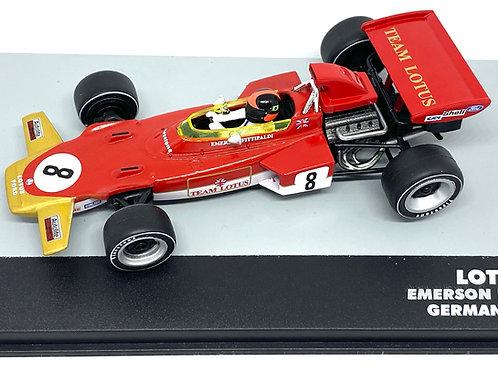 1:43 Scale Lotus 72D F1 Diecast Model - Emerson Fittipaldi 1971 Grand Prix Car