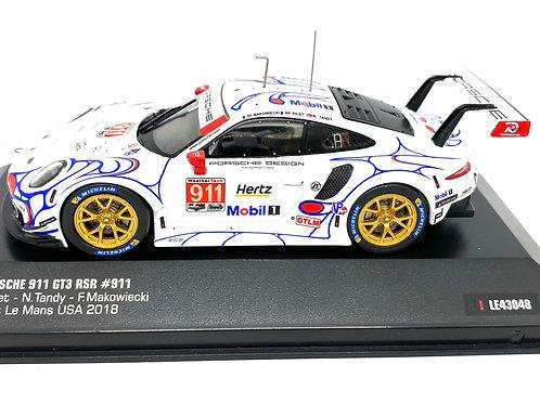 1:43 scale IXO Porsche 911 GT3 RSR, Pilet, Tandy & Makowiecki Petit Le Mans 2018