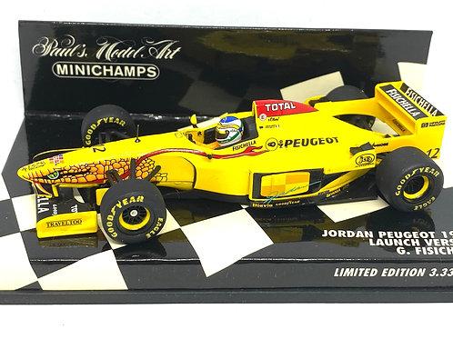 1:43 scale Minichamps Jordan Peugeot 1997 F1 Launch Car - G Fisichella Model