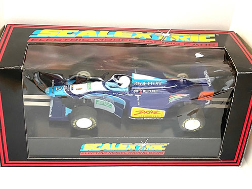 Vintage Boxed Benetton B193 Scalextric Slot Car, Scalextric C583 Model