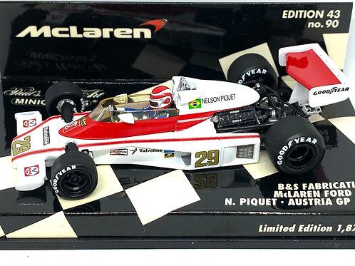 1:43 scale Minichamps McLaren Ford M23 F1 Car - Nelson Piquet 1978 Diecast Model