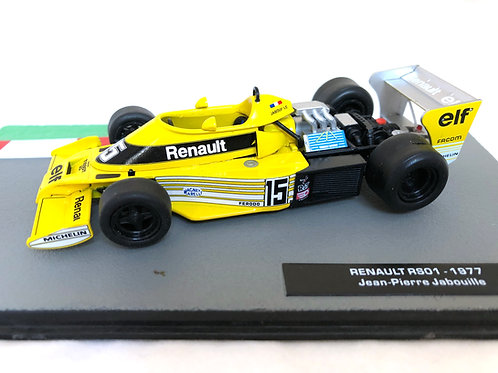 1:43 Scale Formula One Car Collection Renault RS01 - J P Jabouille 1977 Model