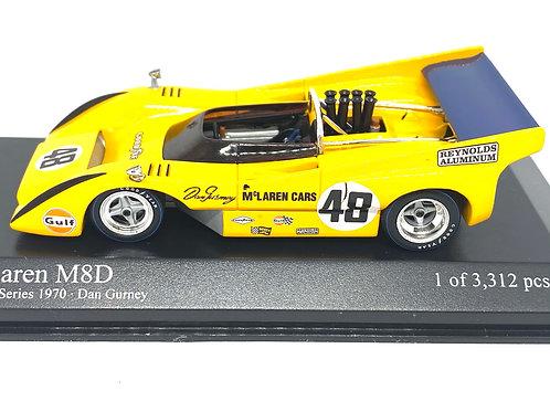 Ltd Ed 1:43 scale Minichamps McLaren M8D Can Am Car - Dan Gurney 1970 Model Car