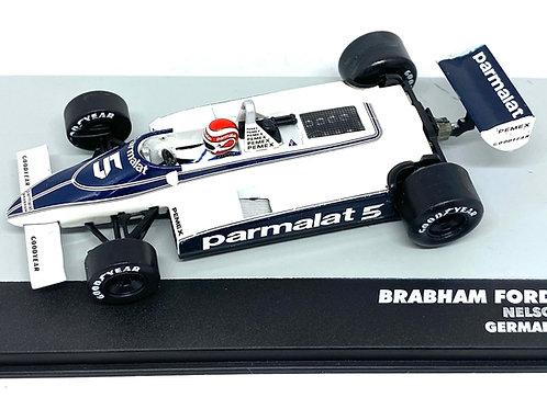 1:43 Scale Brabham BT49C F1 Diecast Model - Nelson Piquet 1981 Grand Prix Car