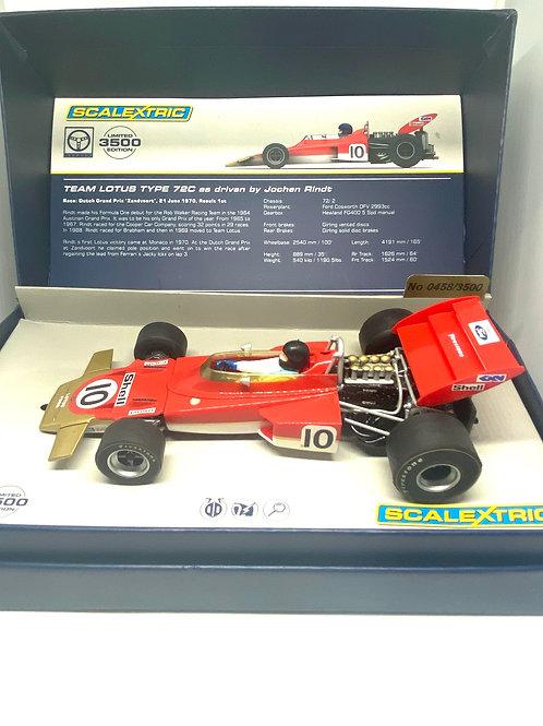 1:32 scale Scalextric Lotus 72C F1 Car - Jochen Rindt 1970 Scalextric C3542a Car