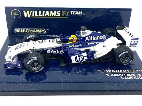 1:43 scale Minichamps Williams BMW FW26 F1 Model Car Ralf Schumacher 2004 Model