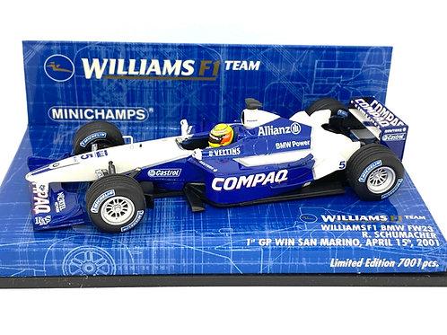 Ltd Ed 1:43 scale Minichamps Williams FW23 F1 Car - R Schumacher's 1st Win 2001