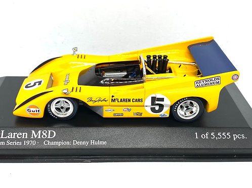 Ltd Ed 1:43 scale Minichamps McLaren M8D Can Am Car - Denny Hulme 1970 Model Car