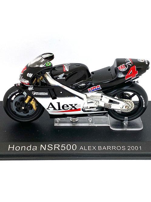 1:24 scale Model Altaya Honda NSR 500 GP Bike - Alex Barros 2001 Replica Model
