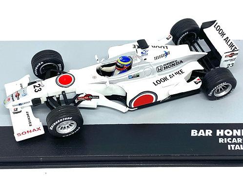 1:43 Scale BAR Honda 002 F1 Diecast Model - Ricardo Zonta 2000 Grand Prix Car