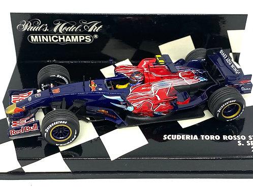 1:43 scale Minichamps Toro Rosso STR2 F1 Car - Scott Speed 2007 Diecast Car