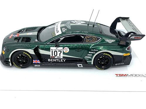 1:43 scale TSM Model Bentley GT3 Sports Car - J Pepper 2019 Diecast GT3 Race Car
