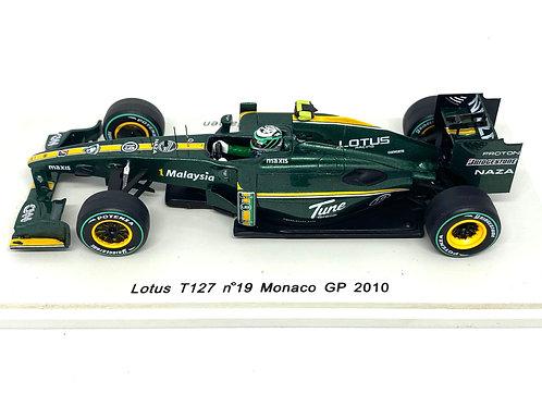 1:43 scale Spark Lotus T127 F1 Car - Heikki Kovalainen Monaco Grand Prix 2010