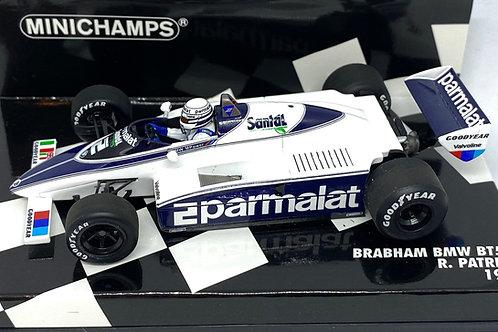 1:43 scale Minichamps Brabham BMW BT50 F1 Car - R Patrese 1982 Diecast Model Car