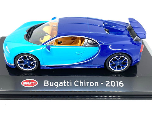 1:43 scale Altaya Diecast Model of a Bugatti Chiron Sports Car Model from 2016