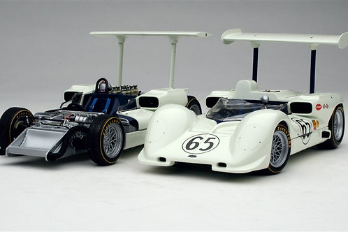 Stunning 1:18 scale Exoto Chaparral 2E Sports Car 2 Car Diecast Model Gift Set