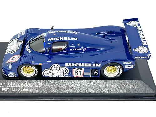 Ltd Ed 1:43 scale Minichamps Sauber Mercedes C9 Sports Car - J L Schlesser 1987