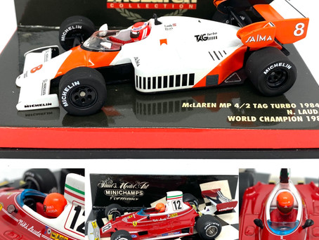 Niki Lauda F1 car collection by Minichamps