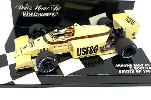 1:43 scale Minichamps Arrows BMW A8 F1 Car - T Boutsen 1986 British Grand Prix