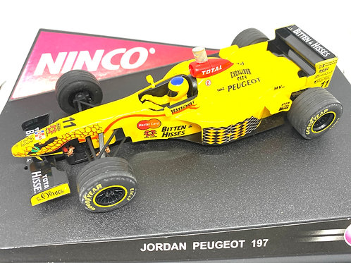 1:32 scale Ninco Jordan Peugeot 197 Slot Car - Ralf Schumacher 1997 Slot Car