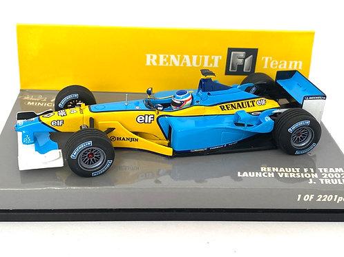 Ltd Edition 1:43 scale Minichamps Renault 2002 F1 Launch Car - J Trulli 2002
