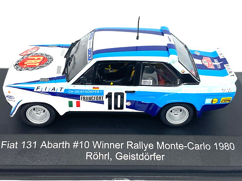 1:43 Scale CMR Replicars Fiat 131 Abarth Rally Car - W Rohrl 1980 Diecast Model