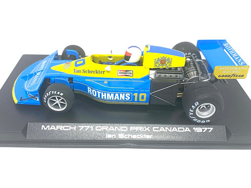 1:32 scale Fly Slotwings March 771 F1 Car Ian Scheckter Canada GP 1977 Slotcar