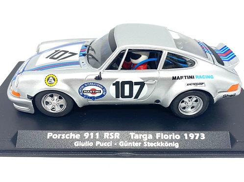 Rare 1:32 scale Fly Slot Car Porsche 911 Carrera RSR Targa Florio 1973 Race Car
