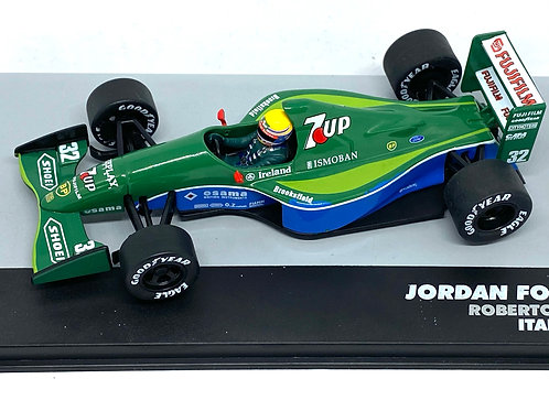 1:43 Scale Jordan Ford 191 F1 Diecast Model - Roberto Moreno 1991 Grand Prix Car