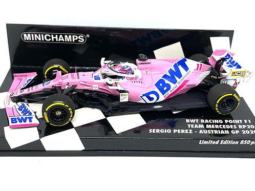 1:43 scale Minichamps Racing Point RP20 F1 Car - S Perez Austrian GP 2020 1/850