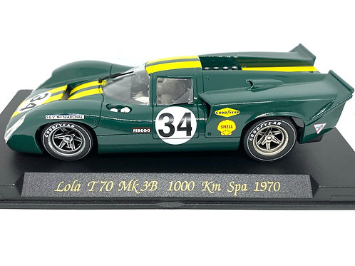 1:32 scale Fly Lola T70 Mk 3B Slot Car as raced at the Spa 1000 KM Race in 1970