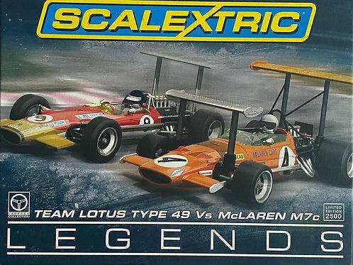 1:32 scale Scalextric C3544A Lotus vs McLaren F1 Legends Box Set - Ltd Ed 2500