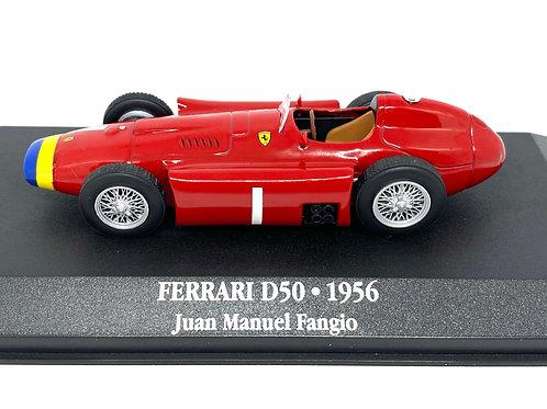 1:43 scale Atlas Editions Ferrari D50 F1 Car - Juan Manuel Fangio 1956 Model Car