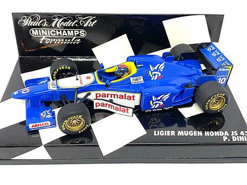 1:43 scale Minichamps Model Ligier JS43 F1 Car - Pedro Diniz 1996 Die cast Model