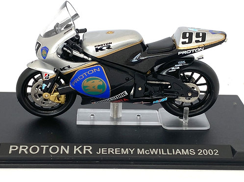1:24 scale Altaya De Agostini Proton KR Moto GP Bike - Jeremy McWilliams 2002