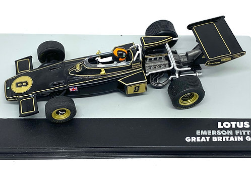 1:43 Scale Lotus 72D F1 Diecast Model - Emerson Fittipaldi 1972 Grand Prix Car