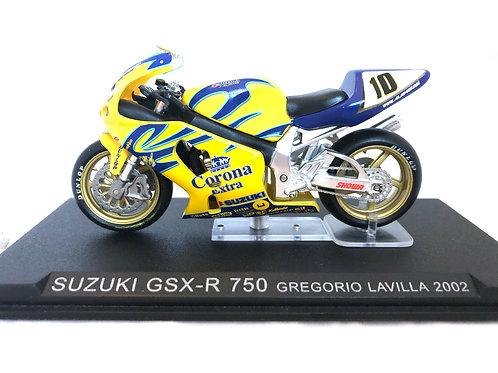1:24 scale Altaya De Agostini Suzuki GSX-R 750 Superbike Model - G Lavilla 2002